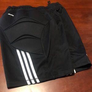 Adidas Climalite Padded Shorts Soccer Goalie NWOT